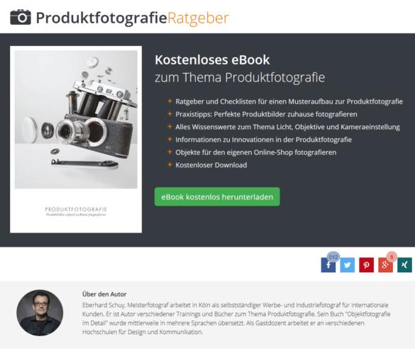Screeenshot: Ratgeber Produktfotografie