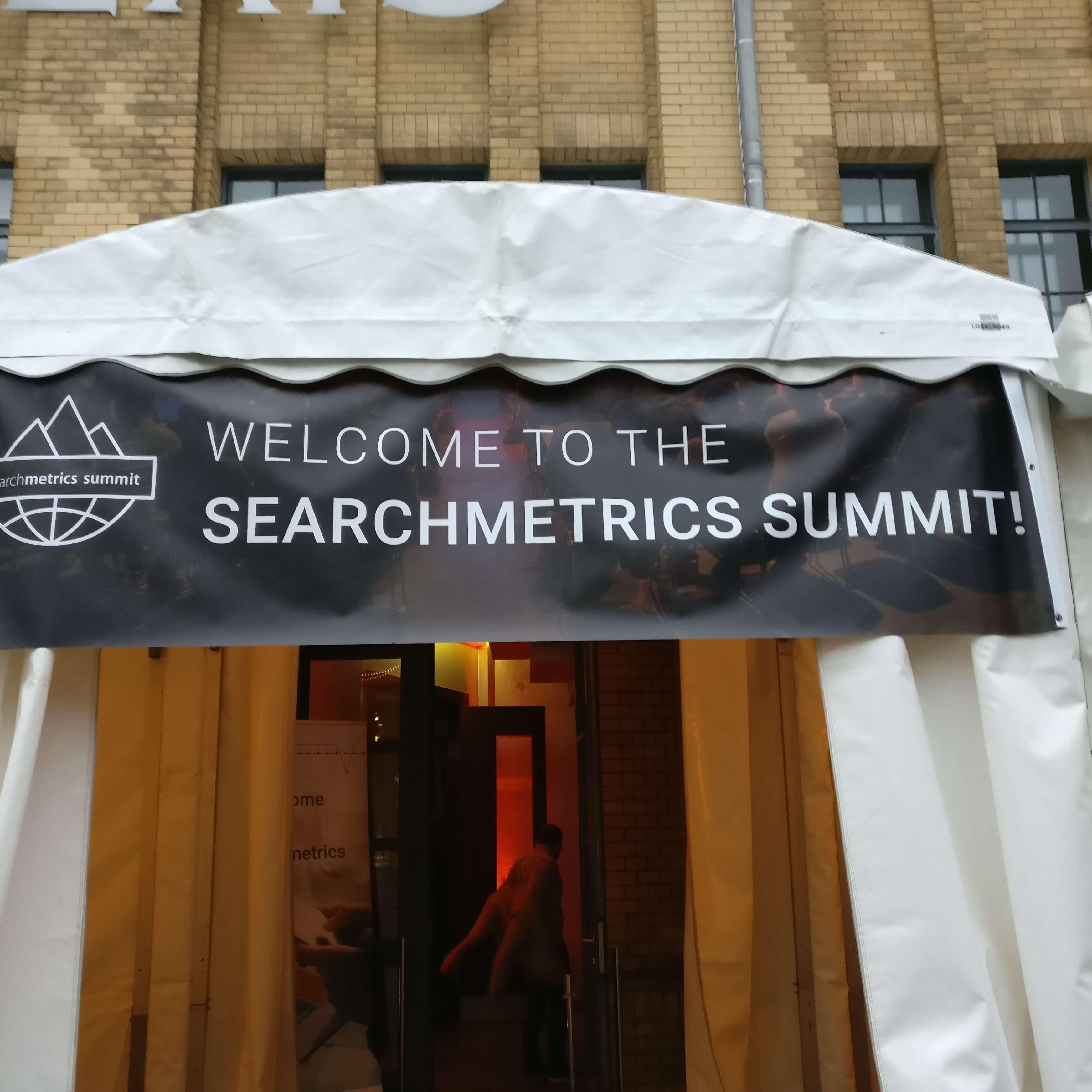 Foto: Willkommen beim Searchmetrics Summit