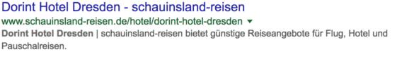 Screenshot: Snippet Hotel