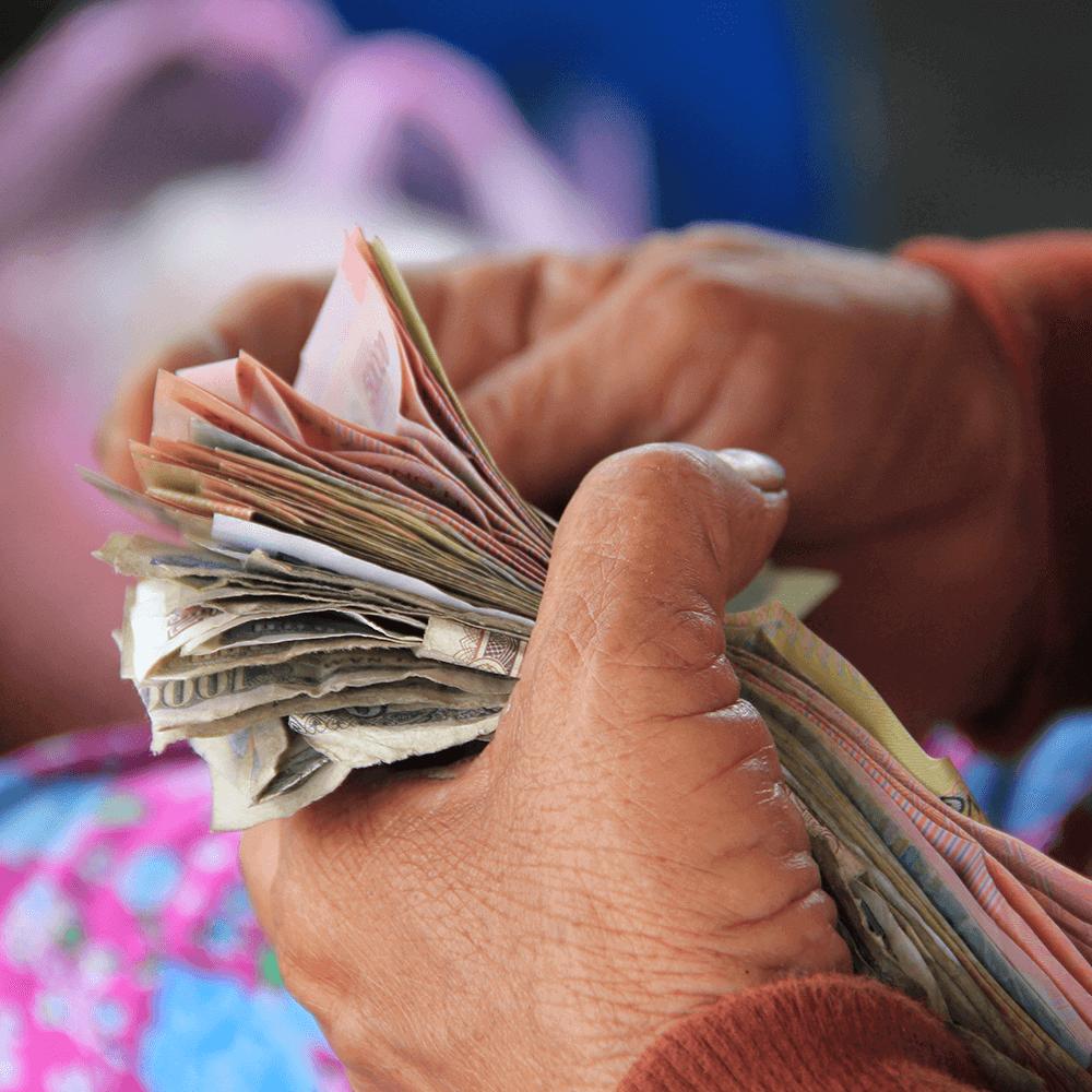 Bild: Geld zählen