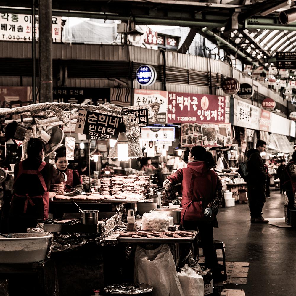 Bild: Ein Marktplatz