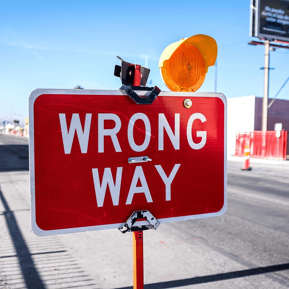 Bild: Falscher Weg