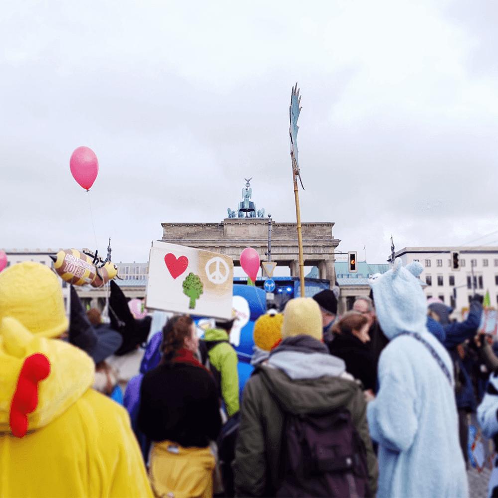 Bild: Eine Demonstration