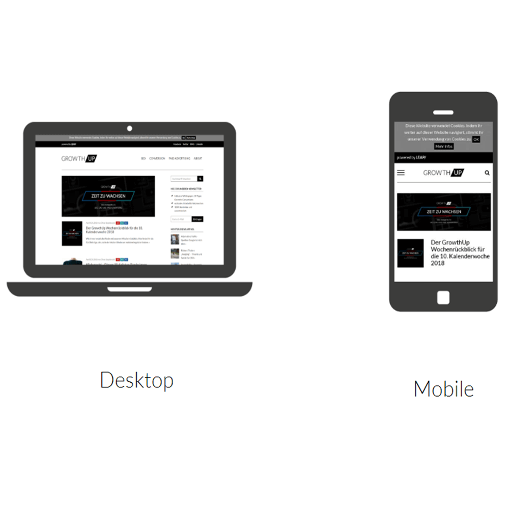 Grafik: Mobile Darstellung