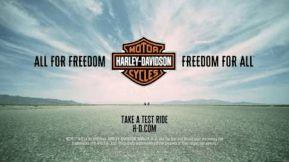Screenshot: Harley Davidson