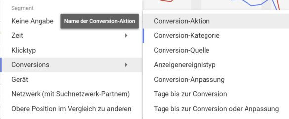 Screenshot: Conversion Aktion