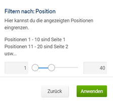 SISTRIX Filter nach Position